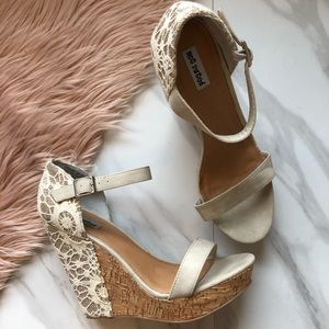 Not rated wedges sandals heels size 10